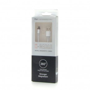 USB Data кабель X-Cable metal magnetic cable 360