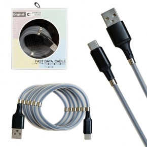 Кабель USB magnet MR-36 Type-C 1m Black (New Product)
