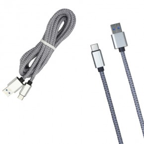 Кабель USB MR27t Тканевый Type-C 2000mm 4.5od (grey)