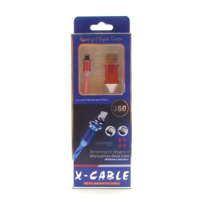 USB кабель X-Cable metal magnetic cable 360 LED